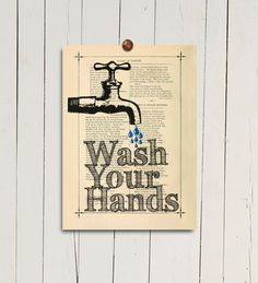 Hey, I found this really awesome Etsy listing at https://www.etsy.com/listing/161575704/wash-your-hands-print-kids-bathroom