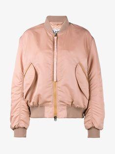 Shop Acne Studios Pink Clea bomber jacket at Browns. cecc55879