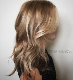 Light Brown And Golden Blonde Balayage Hair #WomenHairHighlightsColour
