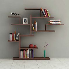 Bonsai Bookcase in Wenge - Casafina