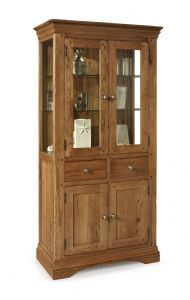 Toulouse Oak And Glass Display Cabinet - Oak Village Glass Display Unit, Oak Bedroom Furniture, Toulouse, Storage Cabinets, Solid Oak, China Cabinet, Storage Spaces, Drawers, Home Decor