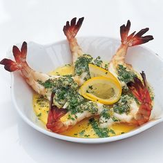 Htc roasted butterflied tiger prawns in garlic butter