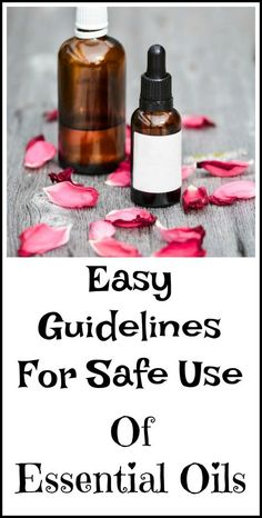 Essential oil safety guide. How to use essential oils safely.