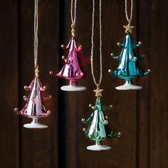 Glitterville Glass Tree Ornaments.