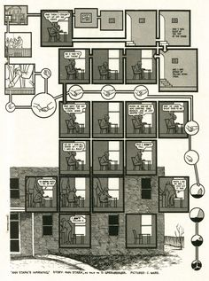 Chris Ware, a 2-page story as told by Ann Stark, from Duplex Planet Illustrated #2 (April 1993). Please follow through to the full-sized images to see the art in an acceptable level of detail. This...