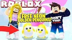 How To Get A Free Neon Golden Penguin New Adopt Me Penguin Update Roblox Roblox Neon What Is Roblox