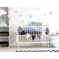 "I-love-Wandtattoo WAS-10452 Wall stickers Kids ""Pastel stars in delicate gray and green colors"" 25 pieces, starry sky for gluing, wall tattoo, wall stickers, stickers, wall decoration *** You can get more details by clicking on the image. (This is an affiliate link) #WallDcor"