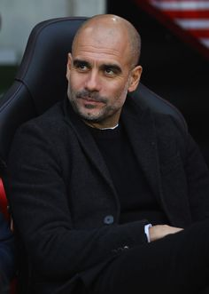 Josep Guardiola, Manager of Manchester City looks on prior to the Premier League match between Southampton FC and Manchester City at St Mary's Stadium on December 2018 in Southampton, United. Get premium, high resolution news photos at Getty Images Bald With Beard, Bald Men, Southampton Fc, Southampton England, Pep Guardiola Style, Manchester City Wallpaper, Hair Today Gone Tomorrow, Bald Hair, Premier League Matches