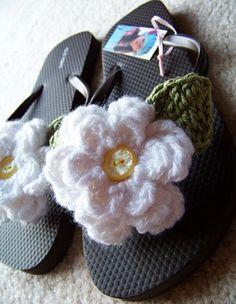 Crochet Happy Daisy Flip Flops