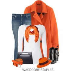 Orange & Black Outfit