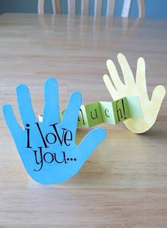 """I Love You This Much"" Paper Craft - Mother's Day 2014 Crafts"