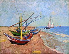Vincent van Gogh - Boats at Saintes-Maries