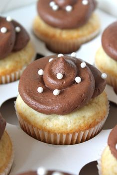Baked Perfection: Vanilla Cupcakes with Chocolate frosting...and a wedding