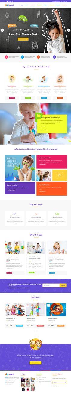 Kids World WordPress Theme