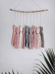 Your place to buy and sell all things handmade Tassel Garland, Tassels, Yarn Crafts, Diy And Crafts, Yarn Wall Hanging, Wall Hangings, Cute Diy Room Decor, Boho Diy, Tapestry Weaving