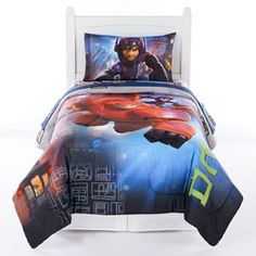 Big Hero 6 Prodigy Bed Set FULL bed in a bag 6 piece set -- Click image to review more details-affiliate link.