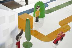 Los caminos de la basura, una gran maqueta que es un tablero de juegos