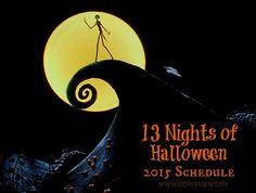 13 Nights of Halloween 2015 Schedule