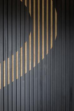 Guildford Business Park - Guildford - o-negativ, TP Bennett Wayfinding Signage, Signage Design, Facade Design, Feature Wall Design, Tv Wall Design, Wood Slat Wall, Wood Slats, Office Interior Design, Office Interiors