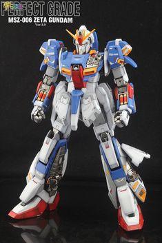 GUNDAM GUY: PG 1/60 MSZ-006 Zeta Gundam Ver.1.0 - Customized Build Zeta Gundam, Gundam Model, Transformers, Guys, Base, Models, Highlight, Templates, Sons
