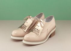 Inglewood Leather Shoes with Spat - Finery London