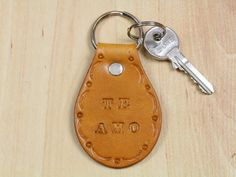 Te Amo Keychain  Leather I Love You Keychain by TinasLeatherCrafts. Repin To Remember.