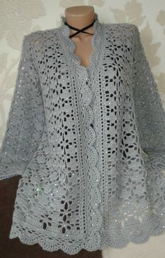 Click to view pattern for - Crochet gray jacket