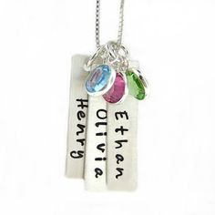 Hand Stamped Jewelry  Personalized Mothers by jcjewelrydesign, $66.00