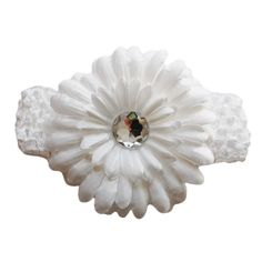 Silky Gerbera Flower has 7 layers and fake crystal in the centre. Flower is 4 inches in size and is on an alligator clip. It can be detached from the headband and worn on their own,directly in the hair, with a hat or head Gerbera Flower, Flowers, Hair Accessories, Stud Earrings, Brooch, Crystals, Jewelry, Jewlery, Bijoux