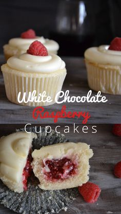 An amazing recipe for white chocolate raspberry cupcakes!