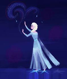 Illustration of Elsa from Frozen 2 Frozen Film, Elsa Frozen, Evans, Cinderella, Disney Characters, Fictional Characters, Fan Art, Disney Princess, Amazing