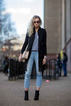 Turn up the cuffs of your distressed denim to show off your ankles.