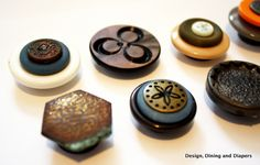 Magnets with old buttons. I have cool-looking buttons and need some more magnets. Brilliant.  :)