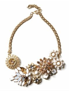 Love This- brooch cluster necklace
