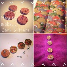 Wine Cork Buttons | Recyclart