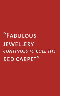 Introducing the High Jewellery Red Carpet 2013 Collection