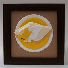 Gudetama - paper sculpture   #sanrio #gudetama #cartoon #custom #handmade #gift #illustration #illustrator #paperart  #paperartist #papercut #papercrafting #custompapercut #folding #papercraft #handcut #instaart #hobby #cute #kawaii #art #decor #walldecore #homedecor