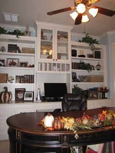 Custom Made Library Bookshelves In Home Office By Artisan