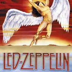 Led Zeppelin Angel wings album cover art