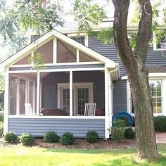 This simple yet elegant screened porch proves that sometimes less is actually more. This porch boasts an open gable roof for bright screened-in porch. Cottage, Gable Roof, House With Porch, Decks And Porches, Porch Decorating, Porch Design, Screened Porch Designs, Porch Kits, Building A Porch