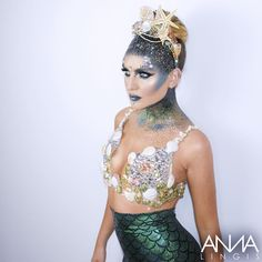 annalingis: LOVED turning the super shining @perrieeele into this Dark Mythical Mermaid.