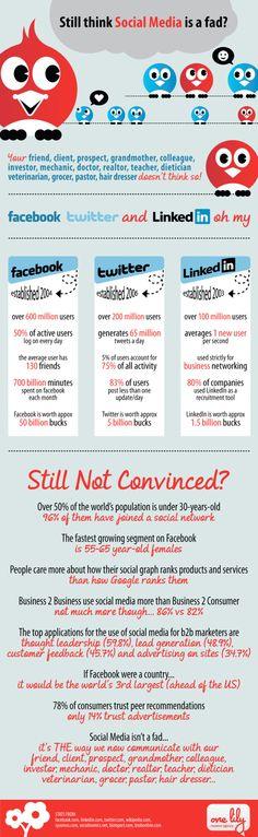 ¿Aún crees que los medios sociales son una moda pasajera? #redessociales #socialmedia #infografia