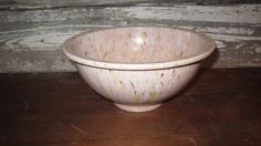 70s Texas Ware Pink Melamine Confetti Mixing Bowl #111.  Love the specks of green...