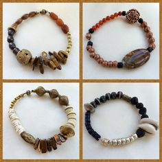 Tribal Inspired Magnetic Clasp Bracelets Ethnic Accessories World Jewelry African Tibet Philippine Jasper Wood Metal Paper Bone Beads Women
