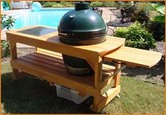 Long Deluxe Big Green Egg Table - $599.00 : Hechler's Mainstreet Hearth & Home