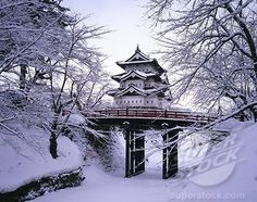 Hirosaki in winter.