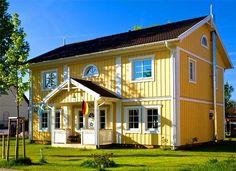 Sjödalshus Classic - Sjödalshus, Schwedenhaus, Holzhaus, Fertighaus Swedish Farmhouse, Farmhouse Interior, House Color Schemes, House Colors, Classic Architecture, Wooden House, My Dream Home, Sweet Home, Shed
