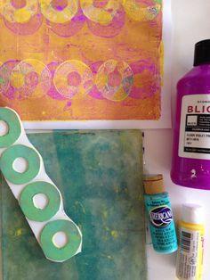 So Simple - So brilliant - Easy DIY printing plates for #gelliprinting