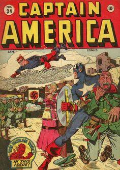 Captain America Comics # 34 by Syd Shores