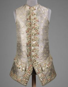 Waist Coat, probably British,  	1750-1770